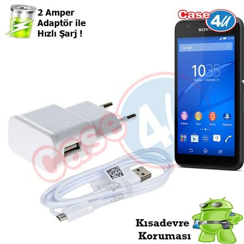 Case 4U Sony Xperia E4 Şarj Seti