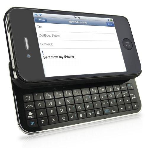Avantalk Apple iPhone 4 Bluetooth Klavyeli Sürgülü Kılıf BTKB533