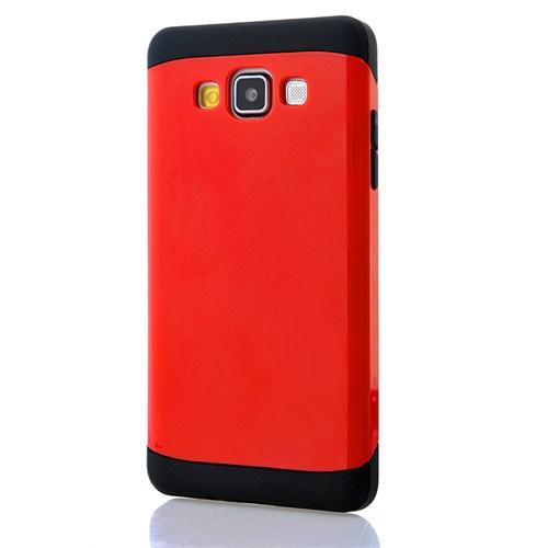 CoverZone Samsung Galaxy E5 Kılıf Hard Case Kırmızı