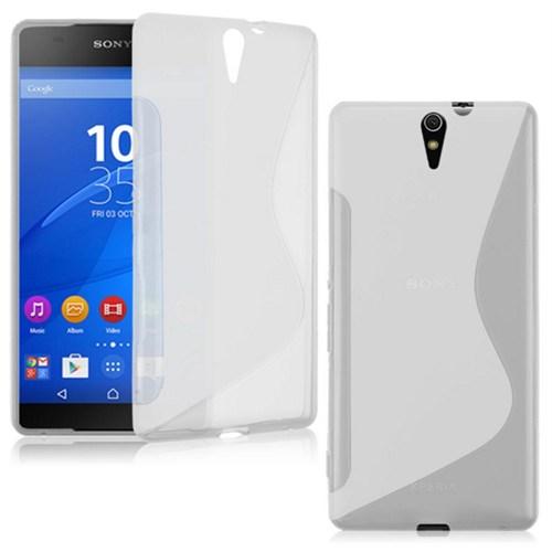 CoverZone Sony Xperia C5 Ultra Kılıf Silikon Sline Şeffaf