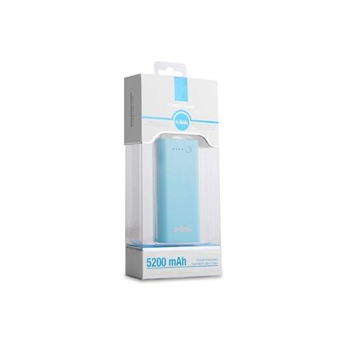 S-Link Ip-821 Mavi 5200Mah Powerbank Şarj Aleti Taşınabilir Pil Şarj Cihazı