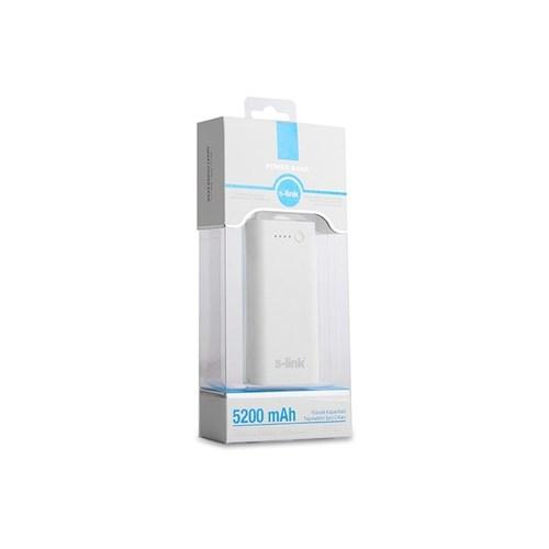 S-Link Ip-821 Beyaz 5200Mah Powerbank Şarj Aleti Taşınabilir Pil Şarj Cihazı