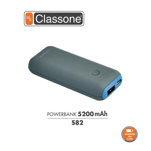 Classone 5200 mAh Taşınabilir Şarj Cihazı S82 - Mavi