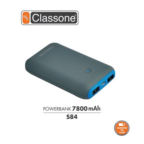 Classone 7800 mAh Taşınabilir Şarj Cihazı S84 - Mavi