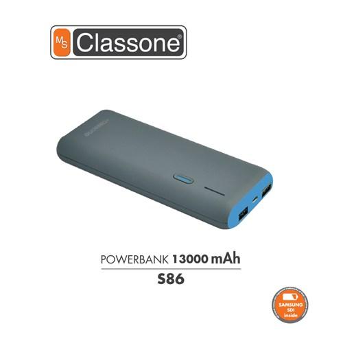 Classone 13000 mAh Taşınabilir Şarj Cihazı S86 - Mavi