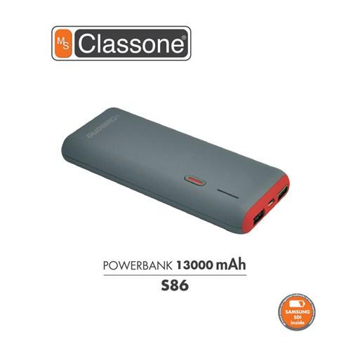 Classone 13000 mAh Taşınabilir Şarj Cihazı S86 - Kırmızı