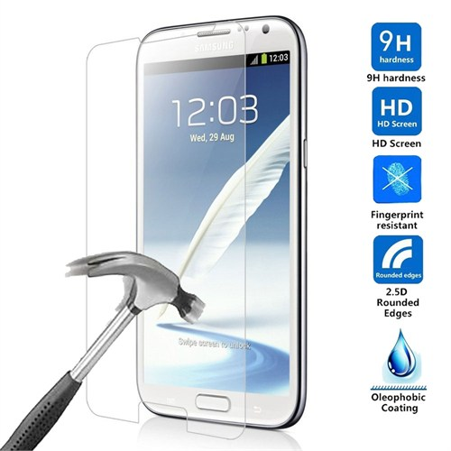 Case 4U Samsung Galaxy Note 2 N7100 Kırılmaz Cam Ekran Koruyucu