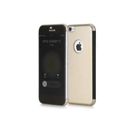 Rock Apple İphone 6S İnvisible Smart Uı Transparent Kılıf Gold