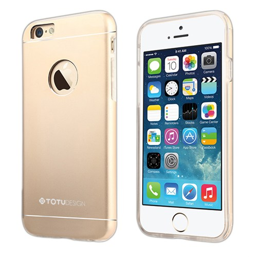 TotuDesign Apple iPhone 6S Kılıf Gold Jaeger Series