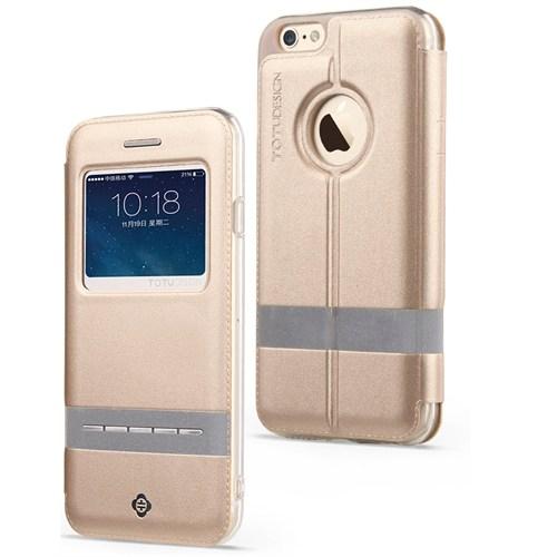 TotuDesign Apple iPhone 6S Kılıf Gold Touch Series