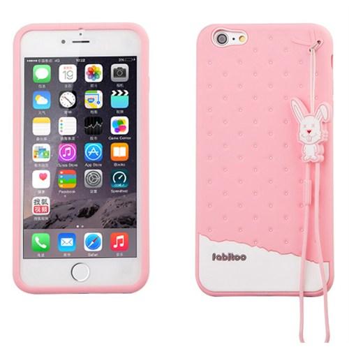 Fabitoo Apple iPhone 6S Plus Candy Kılıf Pembe