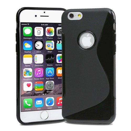 Microsonic İphone 6S Plus (5.5'') S-Line Soft Kılıf Siyah