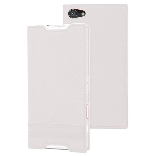Microsonic Sony Xperia Z5 Compact (Z5 Mini) Kılıf Gizli Mıknatıslı Delux Beyaz