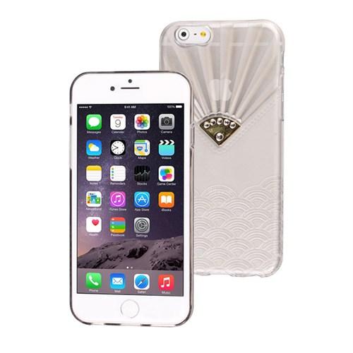 Microsonic İphone 6S Plus Kılıf Taşlı Soft Beyaz