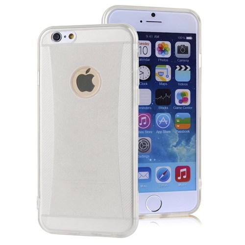 Microsonic İphone 6S Plus Kılıf Simli Soft Beyaz