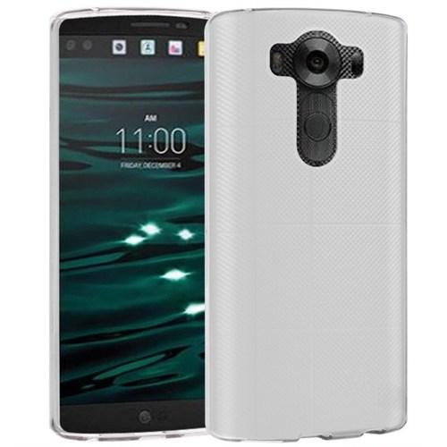 Microsonic Lg V10 Kılıf Transparent Soft Beyaz