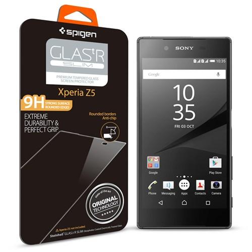 Spigen Sgp Sony Xperia Z5 Screen Protector GLAS.tR SLIM Cam Ekran Koruyucu - SGP11777