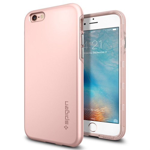 Spigen Sgp iPhone 6s Kılıf Thin Fit Hybrid Rose Gold-SGP11781