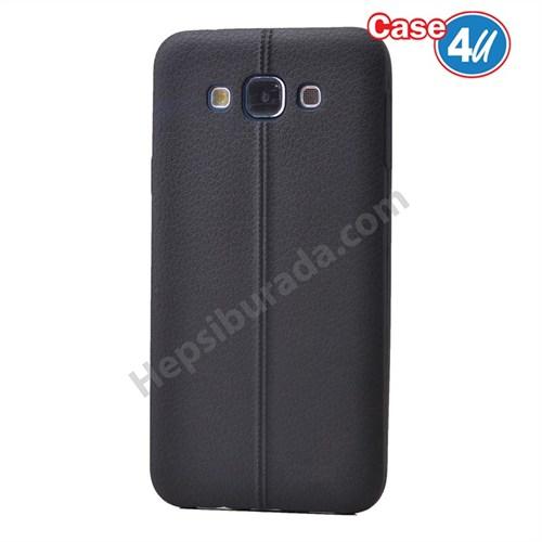 Case 4U Samsung Galaxy A7 Desenli Silikon Kılıf Siyah