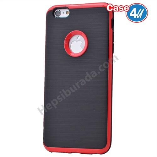 Case 4U Apple İphone 6 Plus Korumalı Arka Kapak Kırmızı