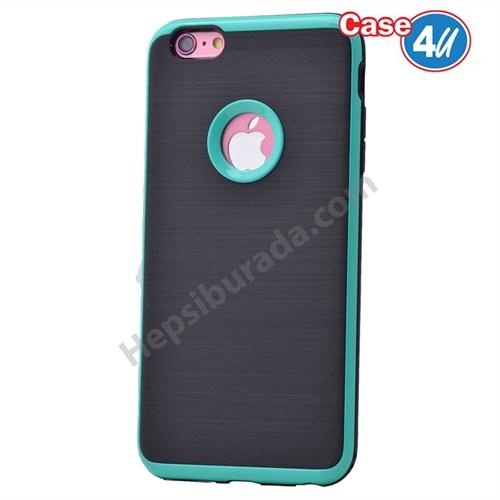 Case 4U Apple İphone 6 Plus Korumalı Arka Kapak Mavi