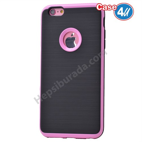 Case 4U Apple İphone 6S Korumalı Arka Kapak Pembe