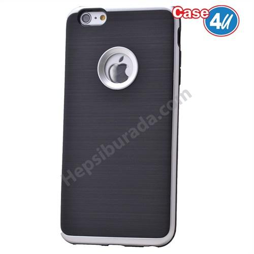 Case 4U Apple İphone 6 Korumalı Arka Kapak Gümüş