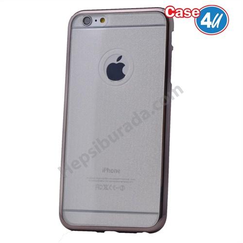 Case 4U Apple İphone 6 Plus Simli Silikon Kılıf Siyah