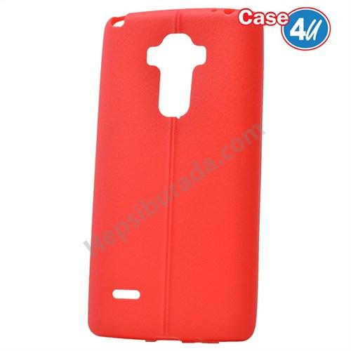 Case 4U Lg G4 Stylus Desenli Silikon Kılıf Kırmızı