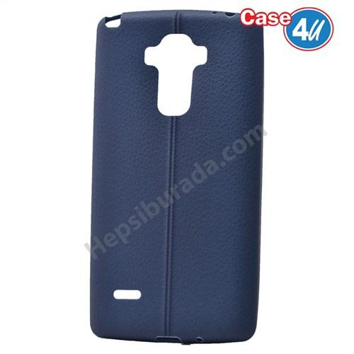 Case 4U Lg G4 Stylus Desenli Silikon Kılıf Lacivert