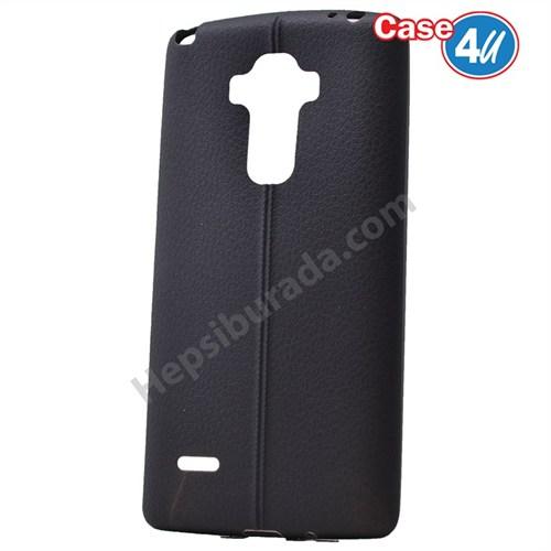 Case 4U Lg G4 Stylus Desenli Silikon Kılıf Siyah