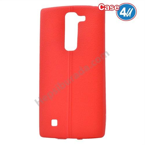 Case 4U Lg G4c Desenli Silikon Kılıf Kırmızı