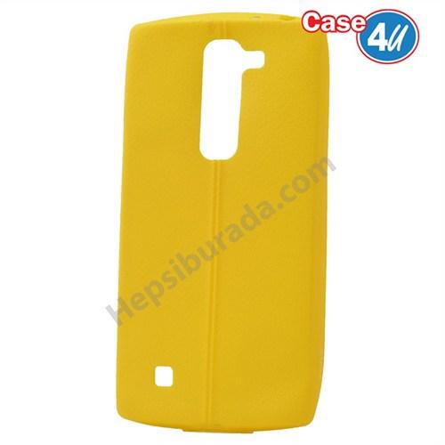 Case 4U Lg G4c Desenli Silikon Kılıf Sarı