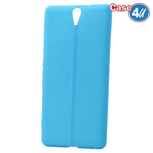 Case 4U Sony Xperia C5 Ultra Desenli Silikon Kılıf Mavi