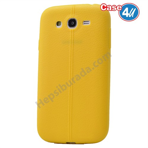 Case 4U Samsung Galaxy S3 Desenli Silikon Kılıf Sarı