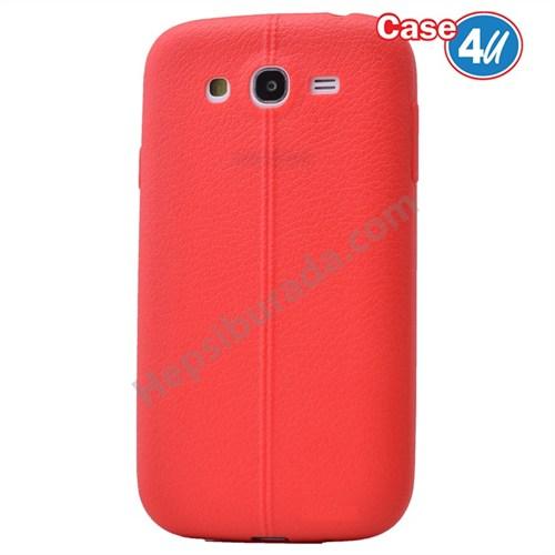 Case 4U Samsung Galaxy S3 Desenli Silikon Kılıf Kırmızı
