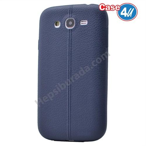 Case 4U Samsung Galaxy J7 Desenli Silikon Kılıf Koyu Mavi