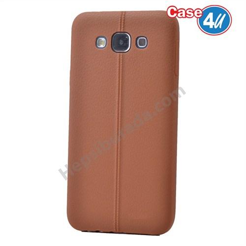 Case 4U Samsung Galaxy J7 Desenli Silikon Kılıf Kahve