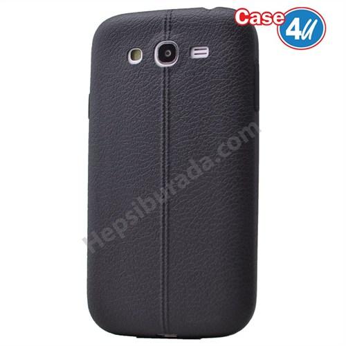 Case 4U Samsung Galaxy J5 Desenli Silikon Kılıf Siyah