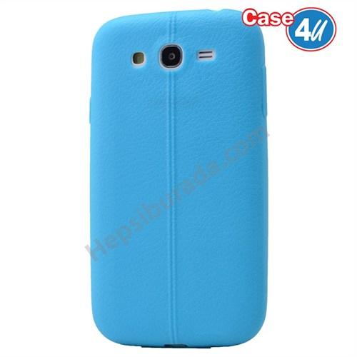 Case 4U Samsung Galaxy J5 Desenli Silikon Kılıf Mavi