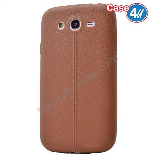 Case 4U Samsung Galaxy J5 Desenli Silikon Kılıf Kahve
