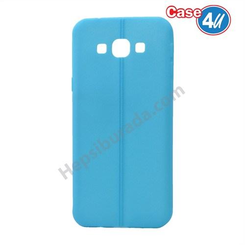 Case 4U Samsung Galaxy A8 Desenli Silikon Kılıf Mavi