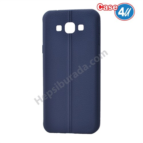 Case 4U Samsung Galaxy A8 Desenli Silikon Kılıf Lacivert