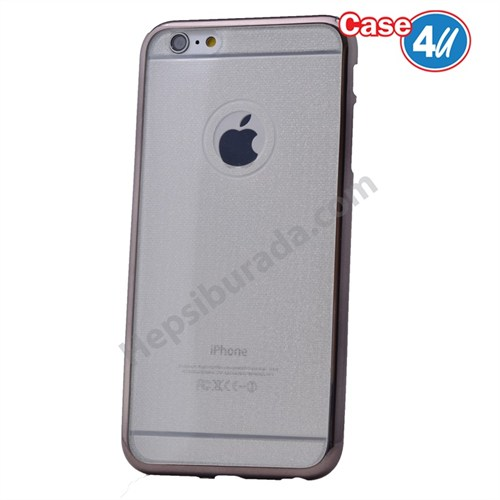 Case 4U Apple İphone 6S Plus Simli Silikon Kılıf Siyah