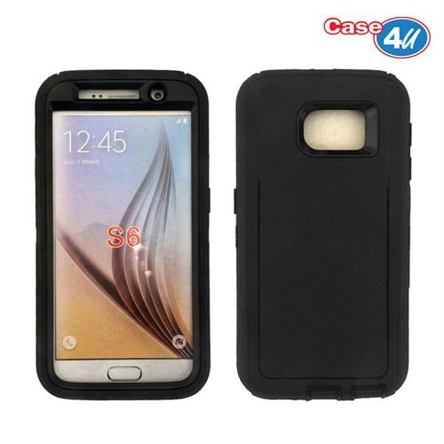 Case 4U Samsung Galaxy S6 Darbeye Dayanıklı Kılıf Siyah