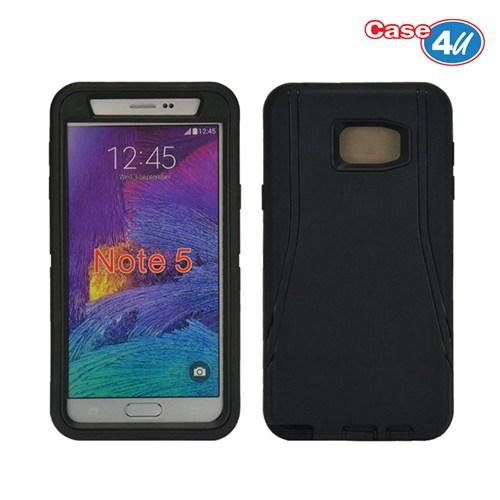 Case 4U Samsung Galaxy Note 5 Darbeye Dayanıklı Kılıf Siyah*