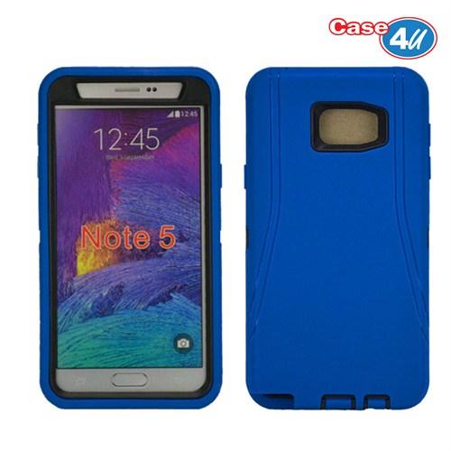 Case 4U Samsung Galaxy Note 5 Darbeye Dayanıklı Kılıf Lacivert/Mavi
