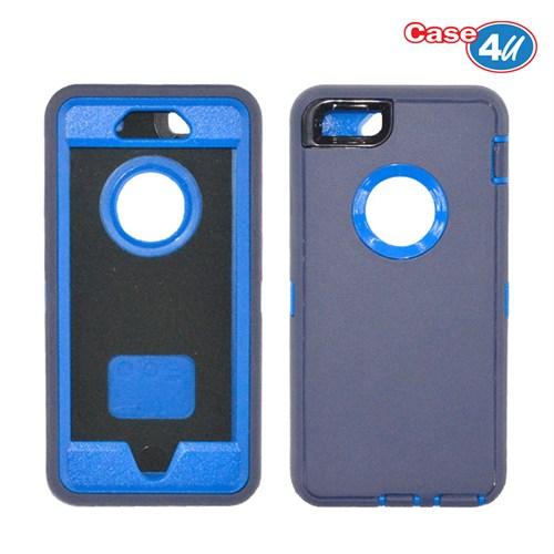 Case 4U Apple İphone 6 Darbeye Dayanıklı Kılıf Lacivert/Mavi