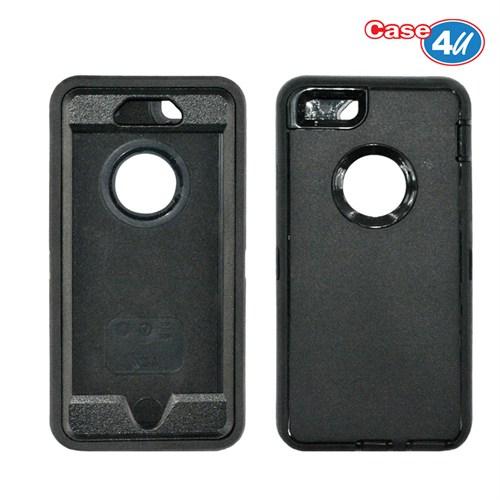 Case 4U Apple İphone 6 Darbeye Dayanıklı Kılıf Siyah
