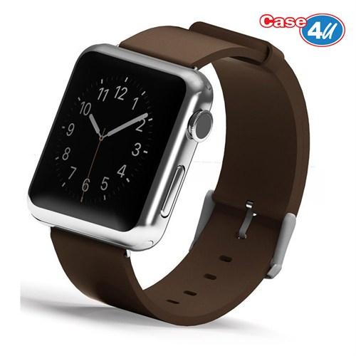 Case 4U Apple Watch 42 mm Klasik Tokalı Kahve Kayış